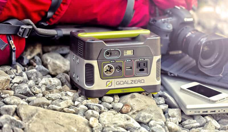 The goal zero yeti 150 solar powered generator is great for camping