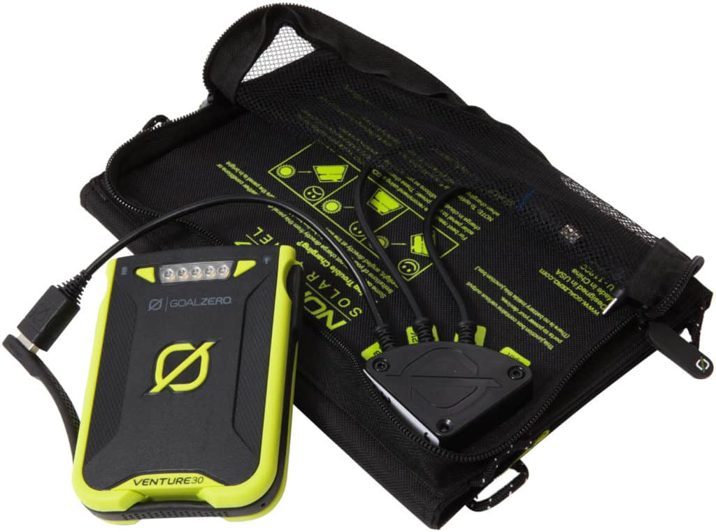 The Venture 30 solar panel charger has a lot of options to charge with