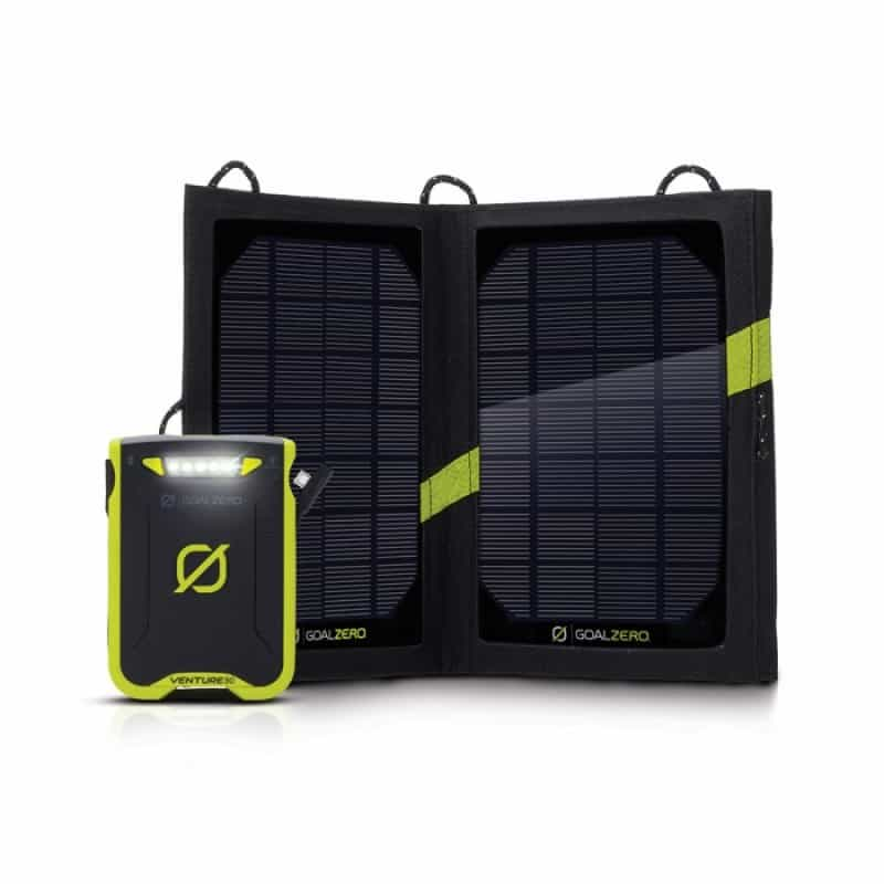 The Goal Zero Venture 30 is a great solar powered phone charger