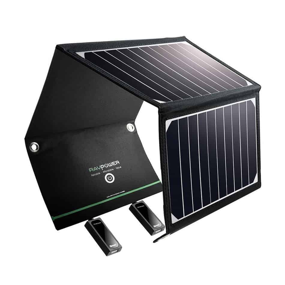 Solar panel chargers are great tools when camping