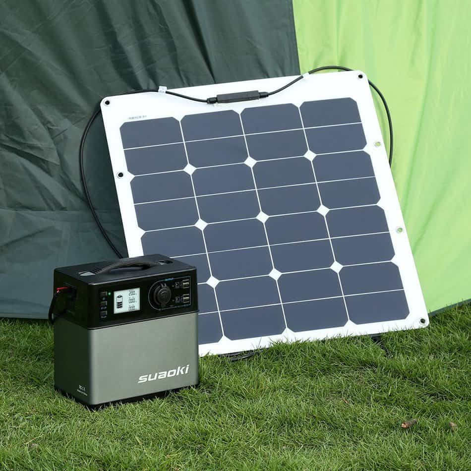 Charging the Suaoki 400Wh generator with a solar panel