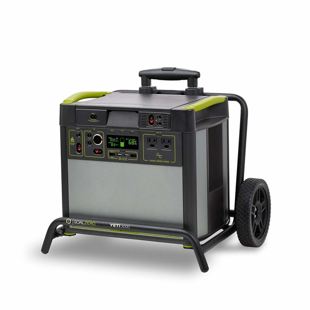 The roll cart is a special feature on this portable solar generator