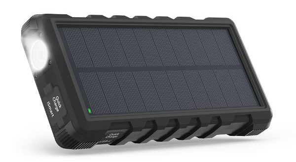With three outputs, the RAVPower solar charger is versatile in many environments