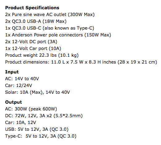 The Suaoki G500 stats are impressive for its size