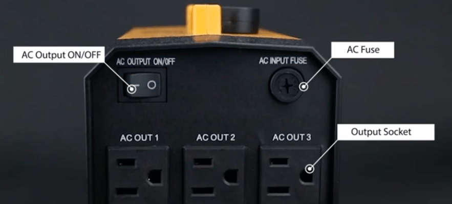 The Aeiusny generator has three AC output sockets