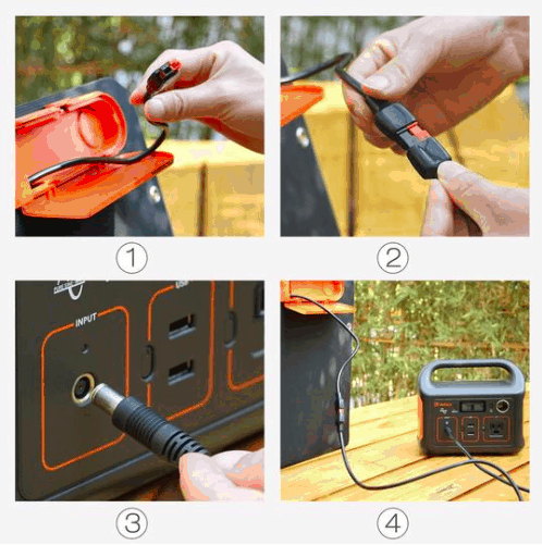 How to connect the Jackery solar panel to the generator