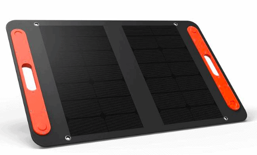 Jackery 50W solar panel opened up