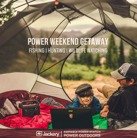 Camping with an electric generator
