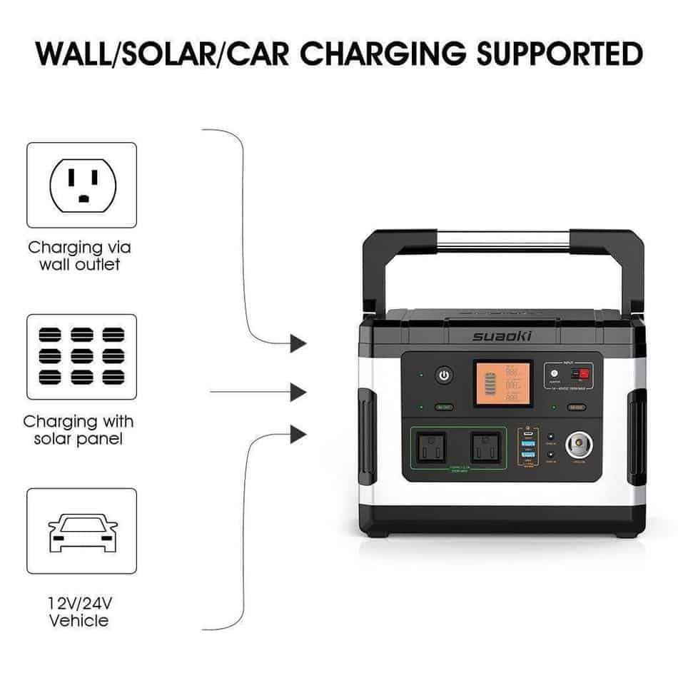 There are multiple ways to charge the Suaoki G500