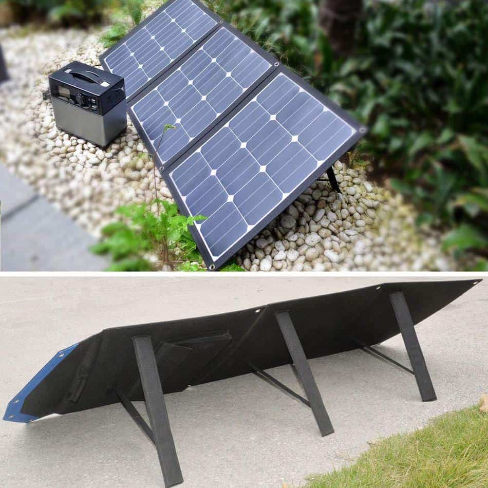 ACOPOWER Foldable Solar Panel Kit front and back