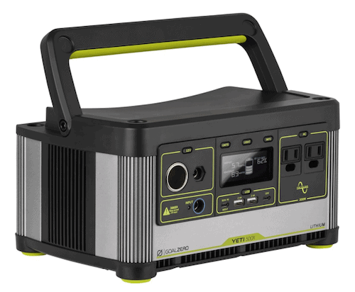 Yeti 500x generator front view with handle up