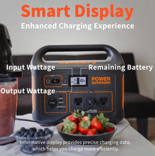 Jackery smart display with diagram