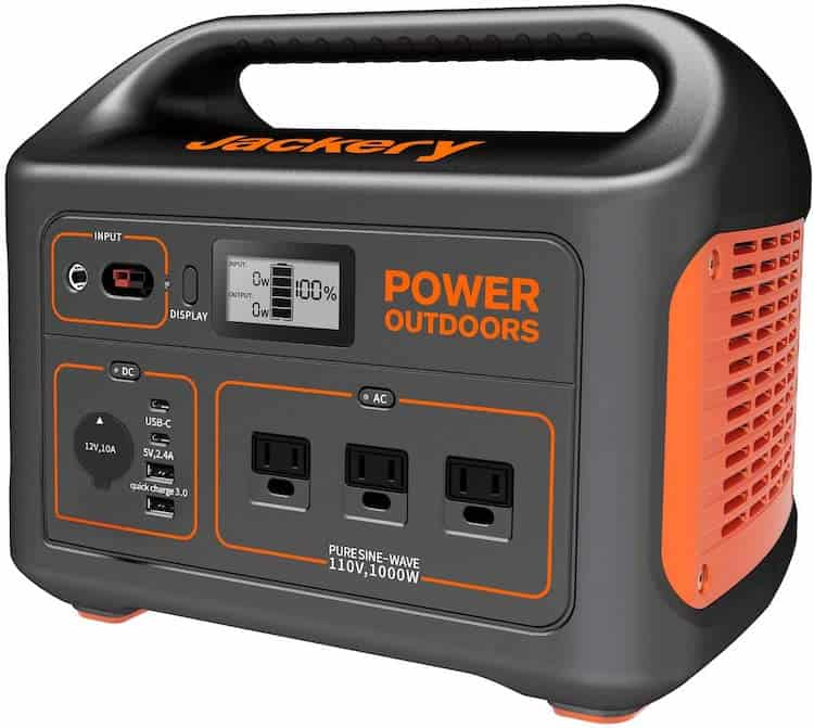 Jackery 1000 front view of generator