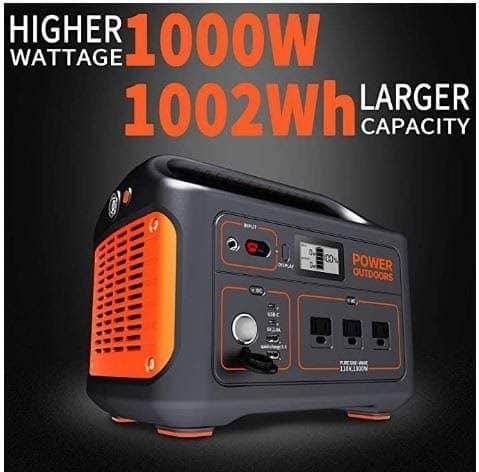 Jackery Explorer 1000 portable power station from view