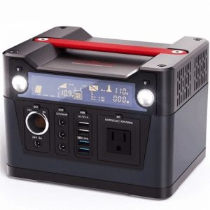Rockpals 300W solar generator front view