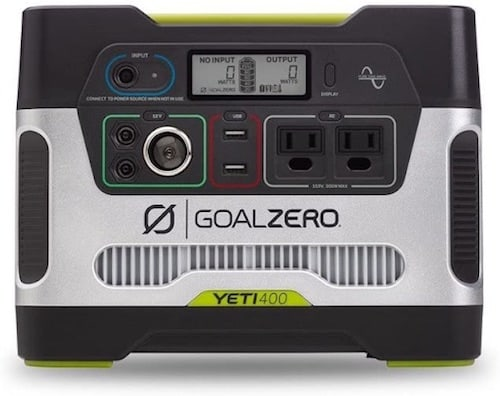 Yeti 400 front view made by Goal Zero
