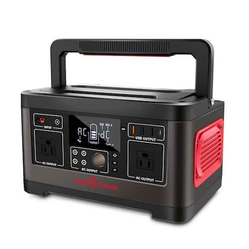 Rockpals 500W/520Wh solar generator front view