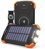 Qi solar charger front