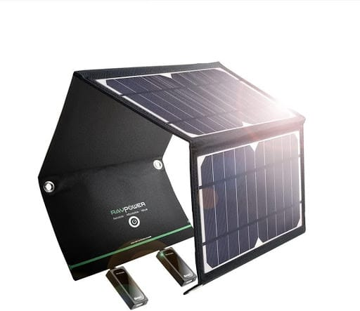 RAVPower Solar Charger 16W front view