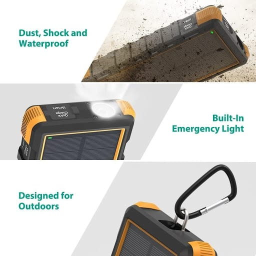 RAVPower solar phone charger other features