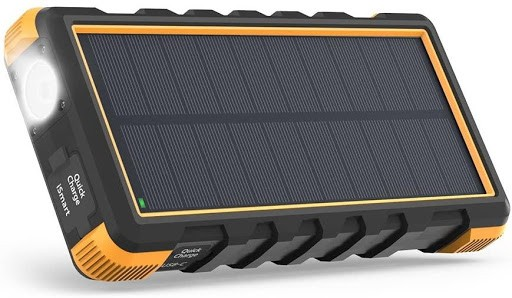 RAVPower solar phone charger front view