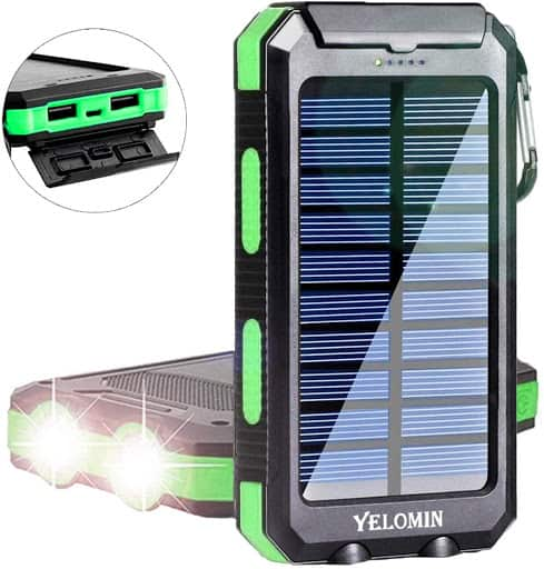 Yelomin 20000mAh Waterproof Mobile Charger front view