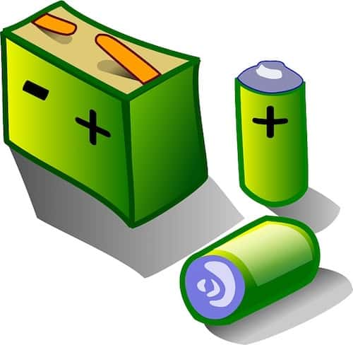 Multiple green batteries together animation