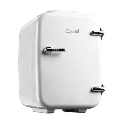 CAYNEL PERSONAL MINI FRIDGE front view in white