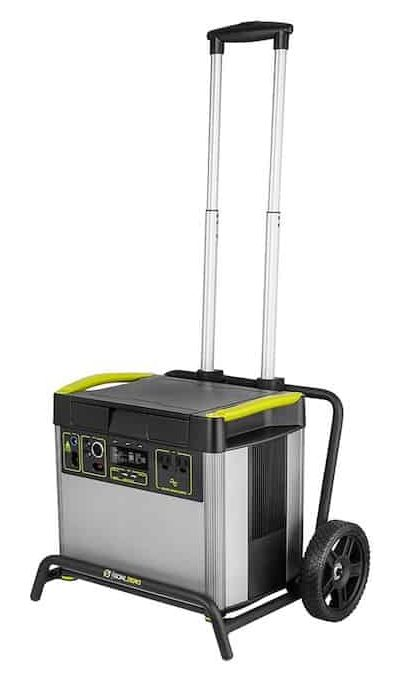 Yeti 3000X with roll cart handle extended