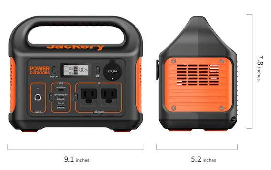 Jaclery Explorer 300 with dimensions