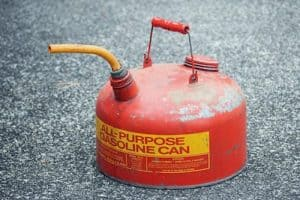 Red and yellow gas container