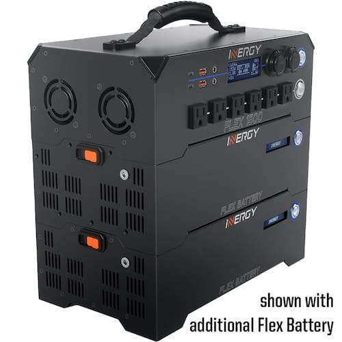 Inergy Flex 1500 AC with two batteries