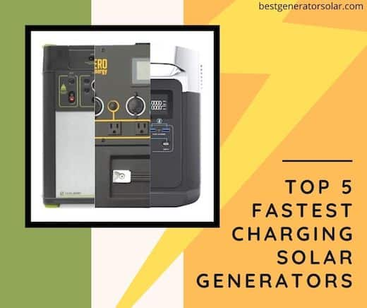 Top 5 Fastest Charging Solar Generators (Wall Outlet & Solar Panels) cover image