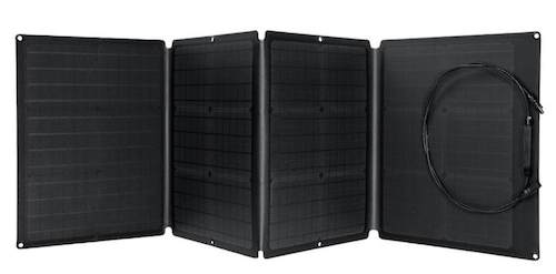 EcoFlow 110W solar panel front view unfolded