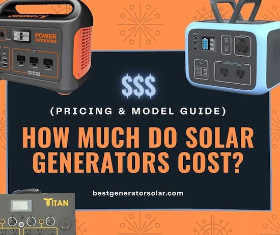 How Much Do Solar Generators Cost (Pricing & Model Guide) cover image