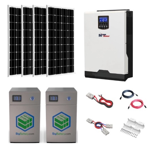 Complete All-In-One Off-Grid Solar Kit - MPP LV2424